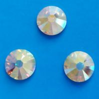 Swarovski Hotfix Crystals 2038 ss12 Crystal AB PK of 40